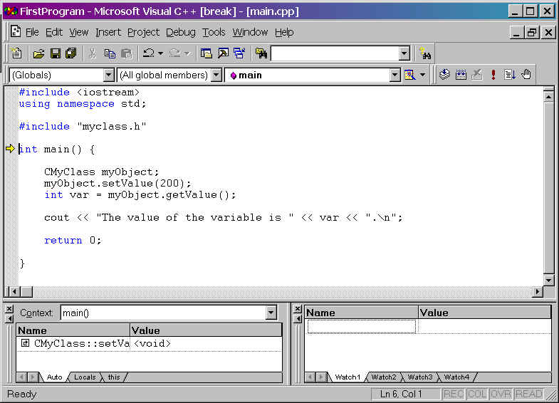 Getting started with Visual C++